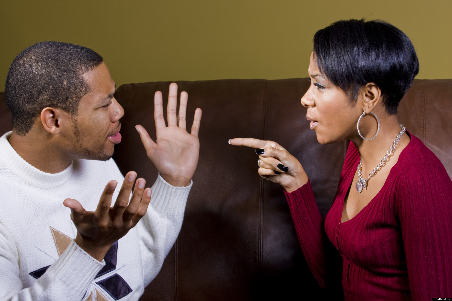 Image result for young black couple fight